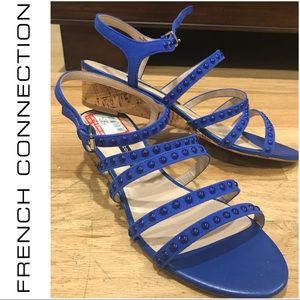 FRENCH CONNECTION strappy NWT wedge sandals 8.5